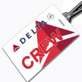Delta Airlines Crew Tag